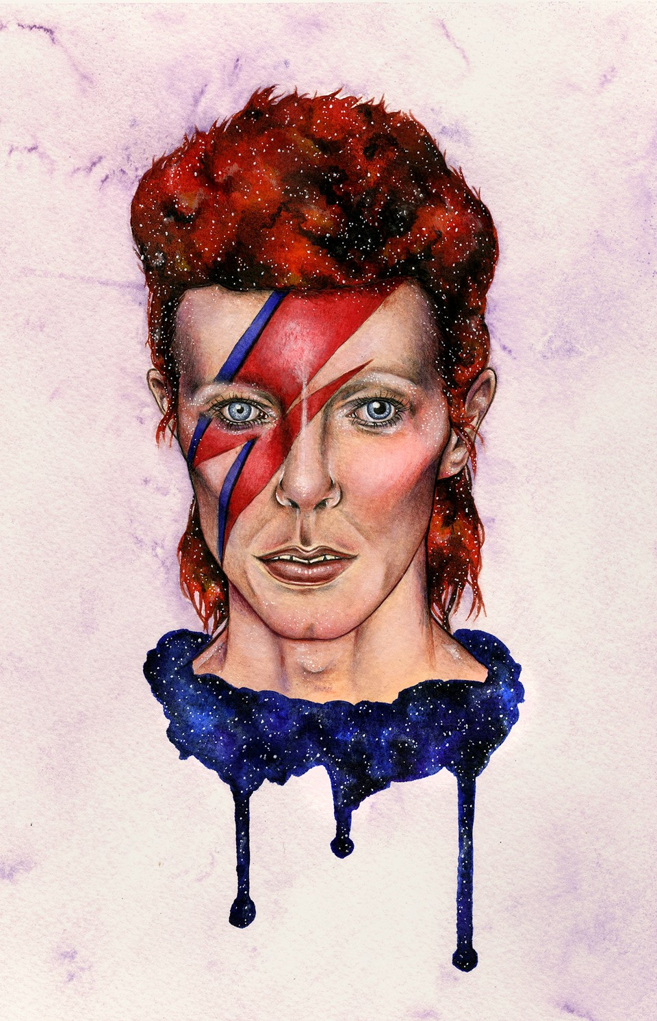 David Bowie fan art by Holly Khraibani