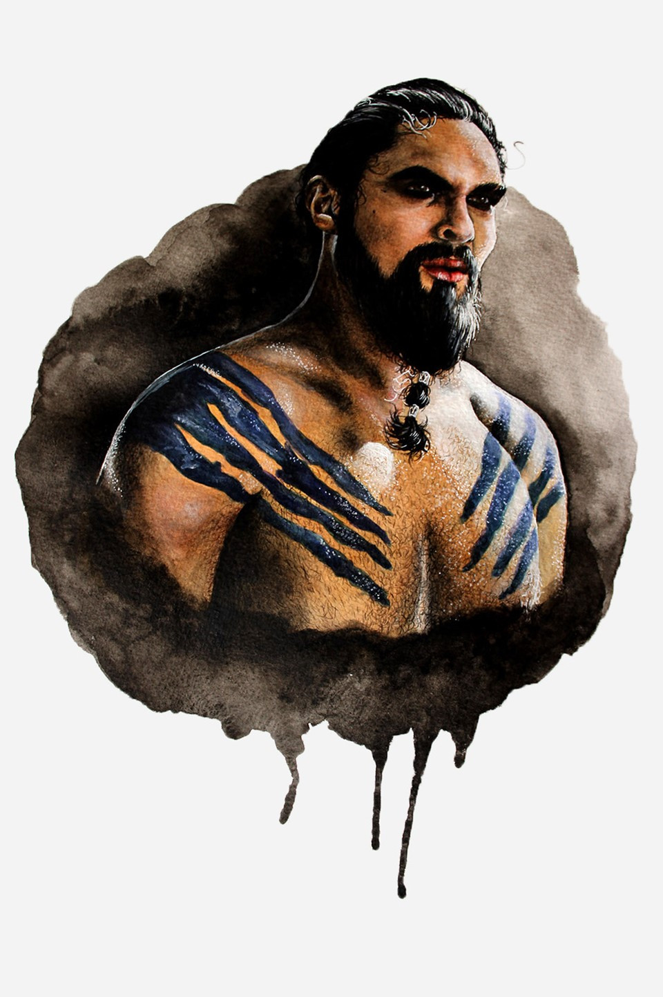 Khal Drogo fan art by Holly Khraibani