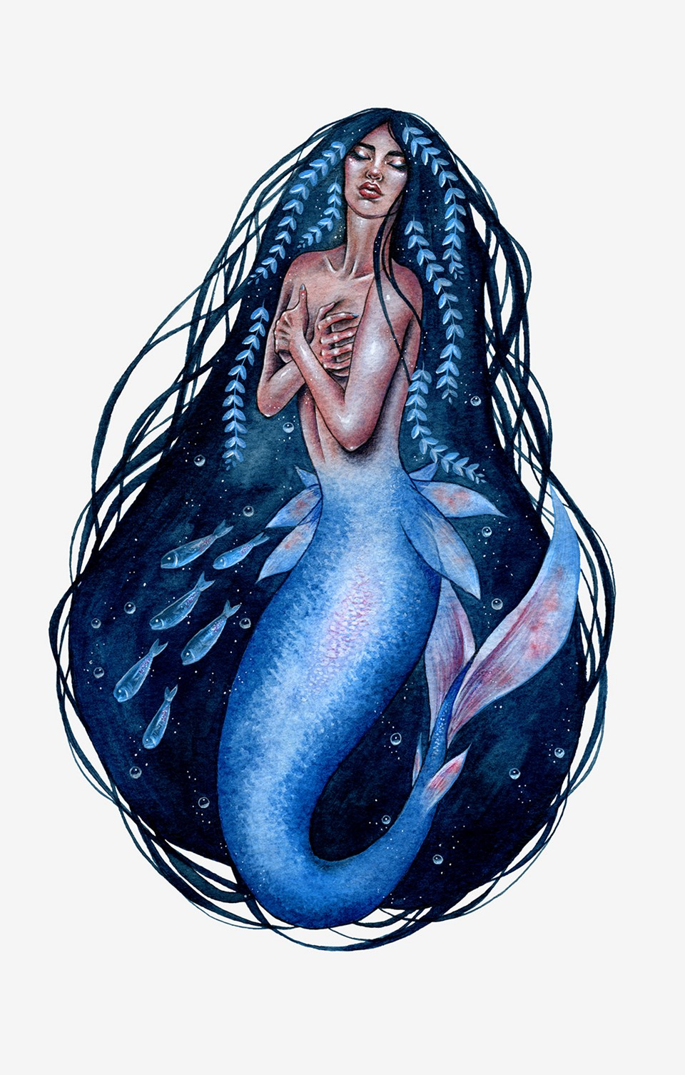 a mermaid illustration by artist Holly Khraibani