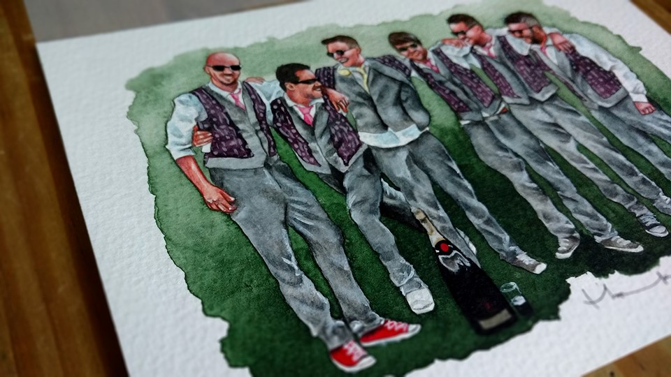 Groom Party - Wedding Illustration